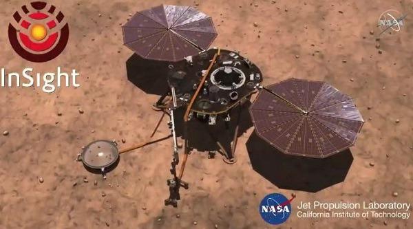 인사이트 화성 탐사선 이미지