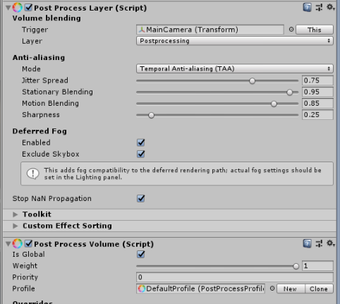 Unity] Post Process Stack v2