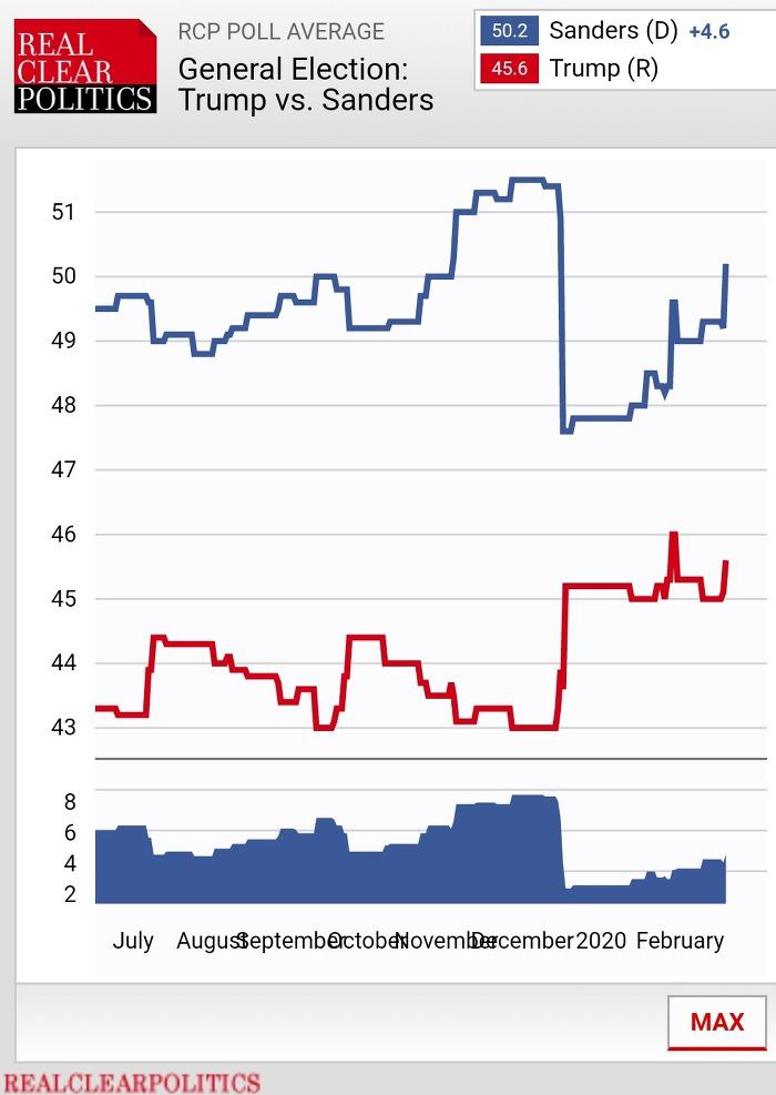 미국 대선 트럼프 vs 샌더스  양자대결