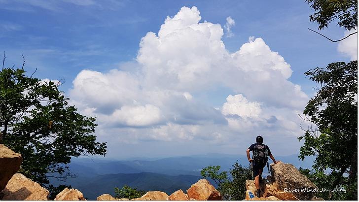 한여름 삼악산 정상