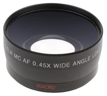 STK58mm 0.45x 광각 + 캐논 니콘 sony pentax dslr 카메라 용 매크로 렌즈