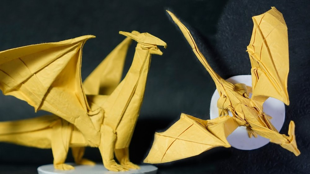 How to make a Origami Dragon - Paper Dragon - YouTube | 562x1000