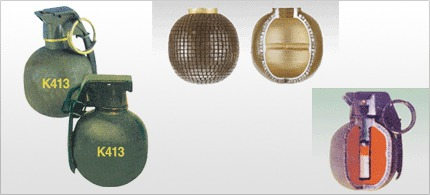 우리나라 K413 세열수류탄
