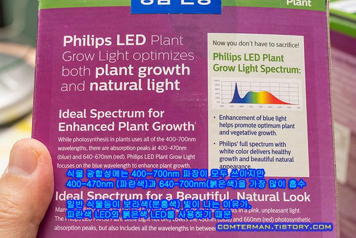 필립스 백색광 식물 LED 램프