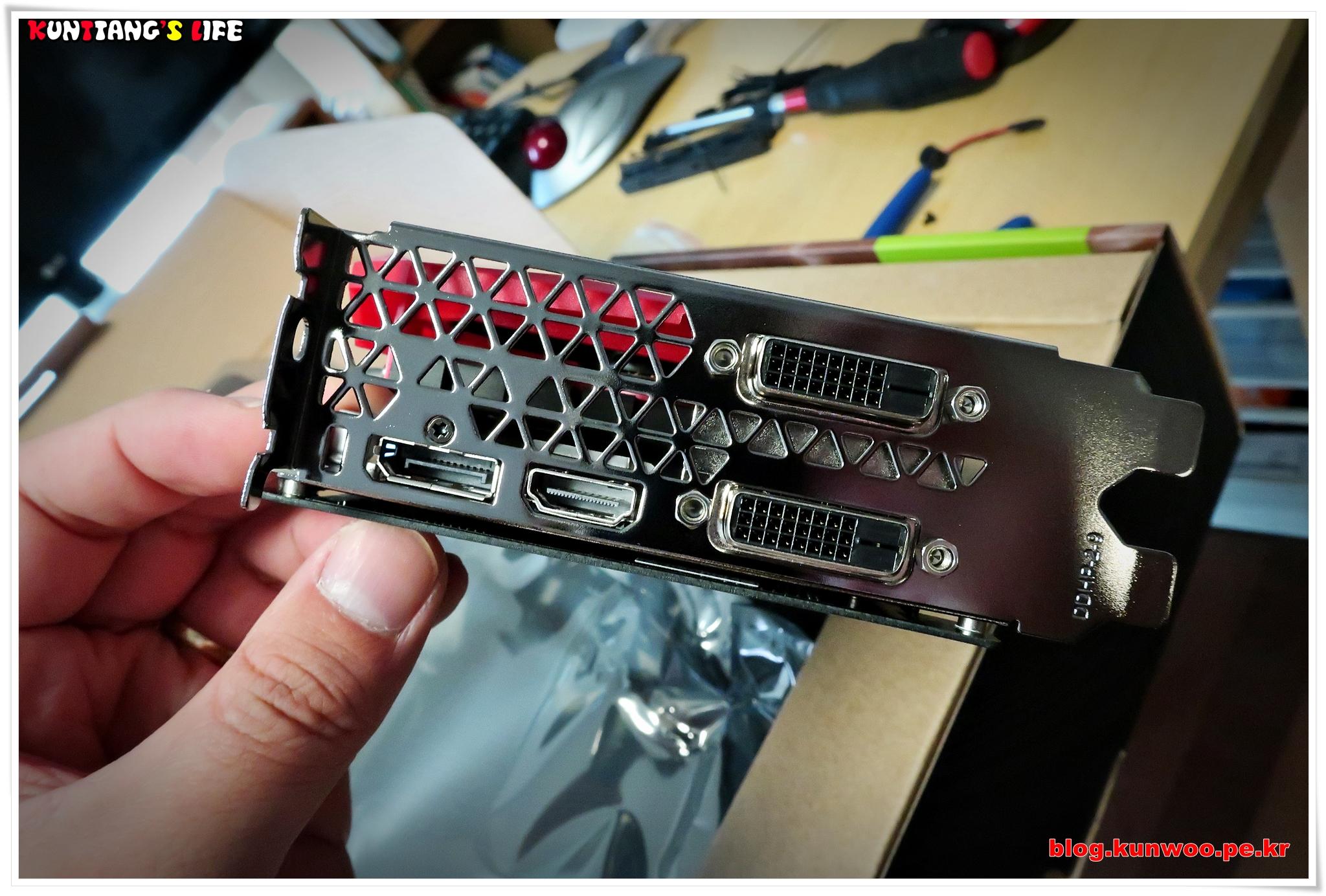 [그림14] Colorful Geforce GTX1060 토마호크 OC D5 3GB 디스플레이 출력포트