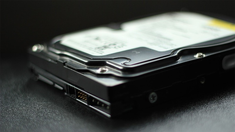 사진: 컴퓨터 저장장치인 하드디스크(HDD)의 모습