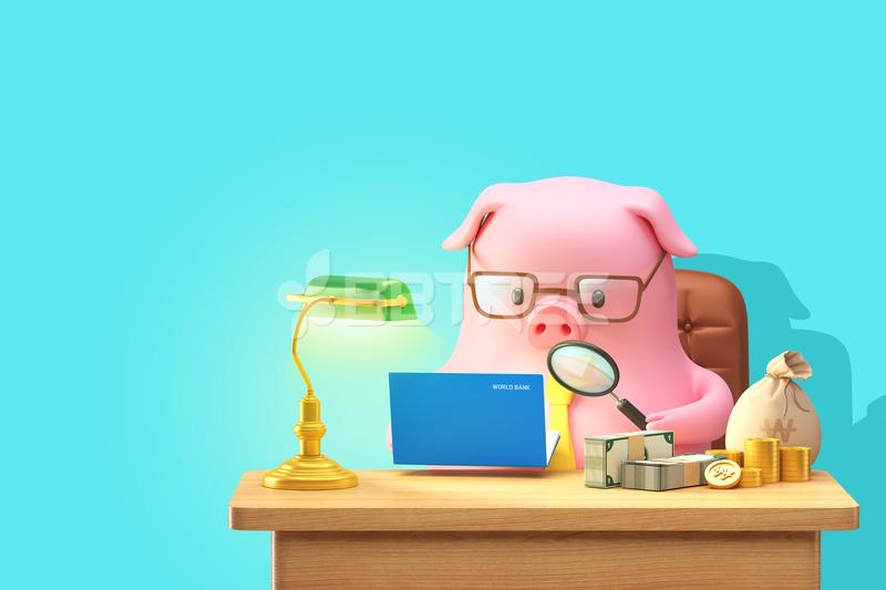 돼지 그래픽 캐릭터