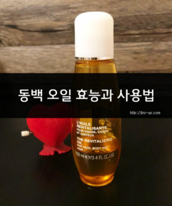 동백 오일 효능과 사용법 [피부 건강정보]