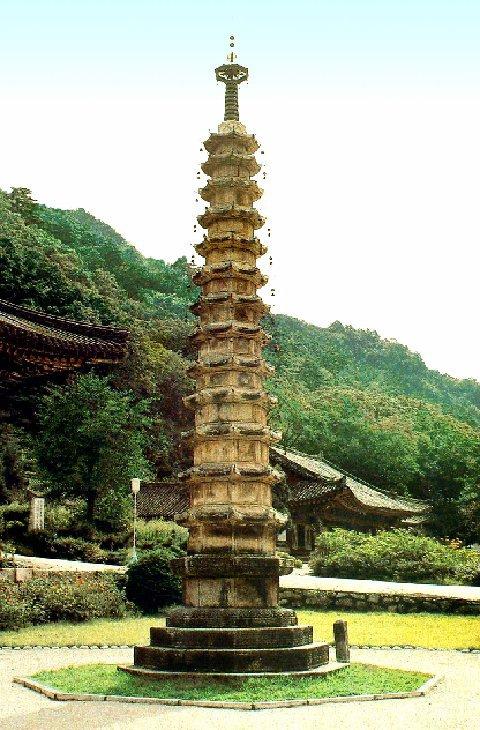 평안북도 향산 보현사 팔각십삼층 석탑