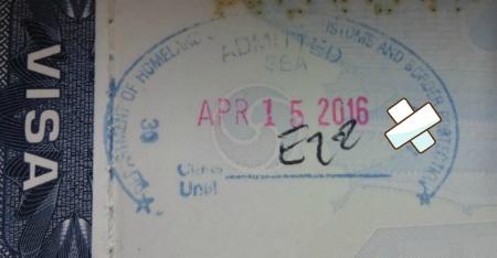 미국 입국 여권 도장