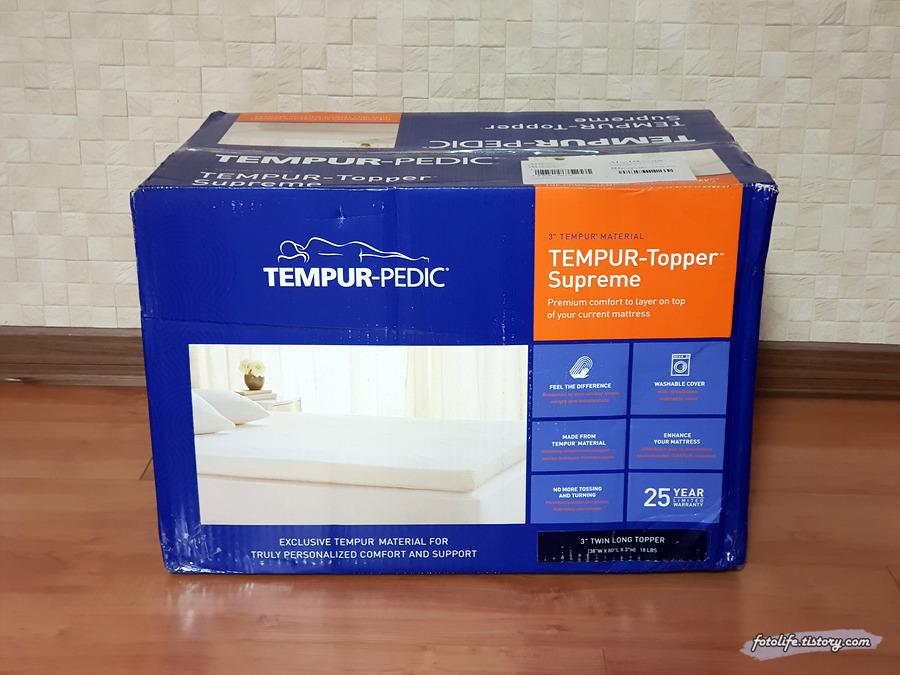 템퍼 페딕 타퍼 트윈 XL 직구기 (Tempur-Pedic TEMPUR-Topper Supreme, Twin XL )