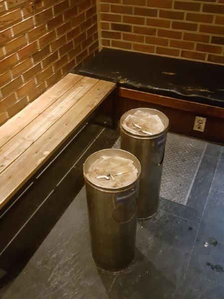 부천 24시간 카페 카페베네 부천역점 흡연실