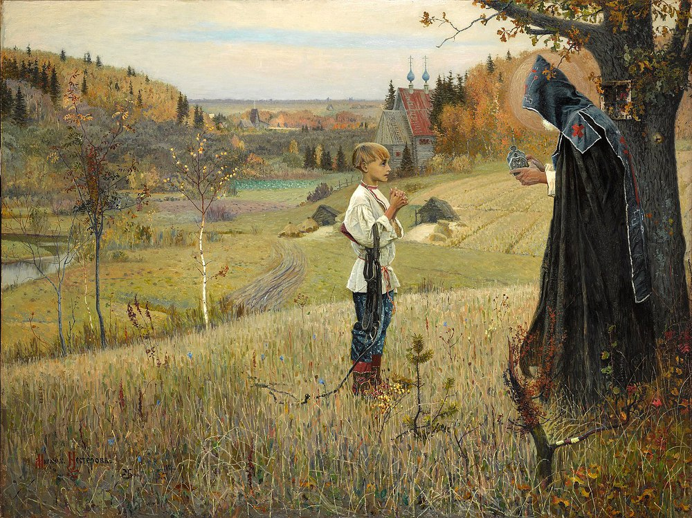 Vision to the Youth Bartholomew, by Mikhail Nesterov (1890).