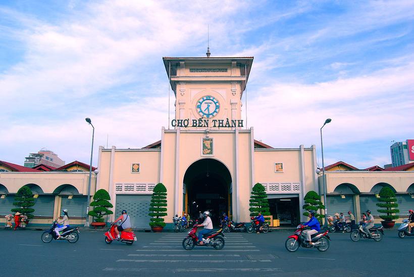 베트남 호치민 벤탄시장 남쪽 출구
