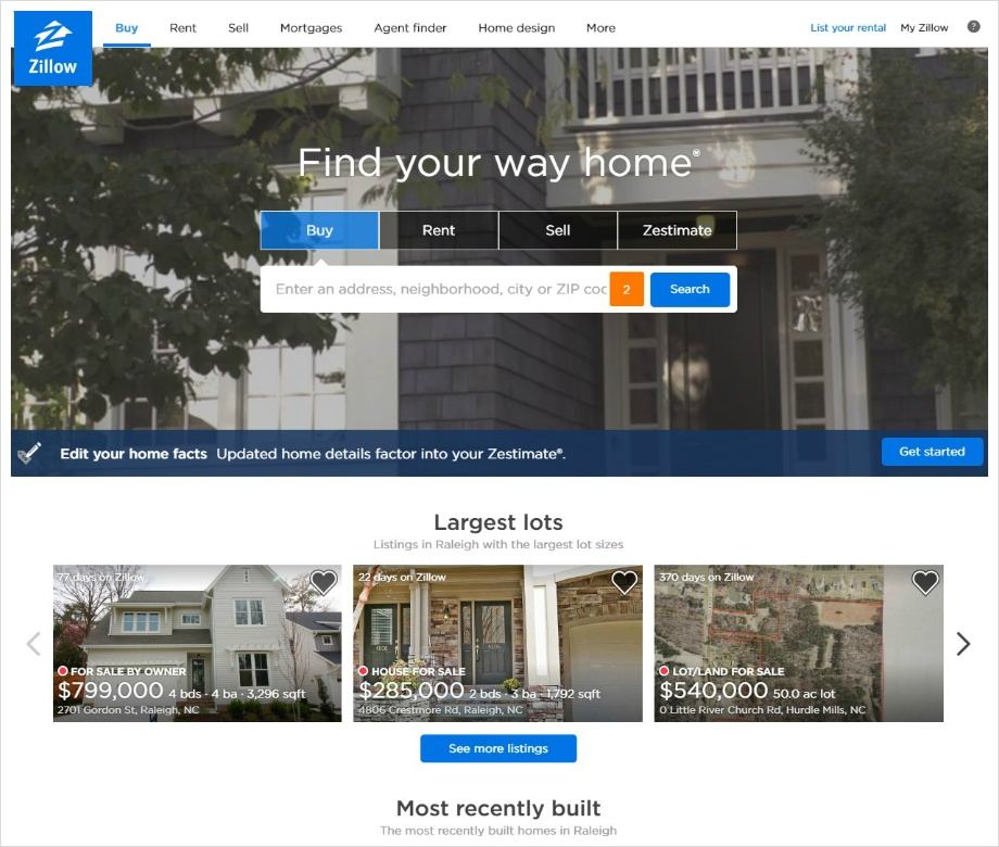 Zillow Site Capture