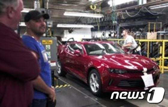 미국의 한 자동차 생산공장 © AFP=뉴스1