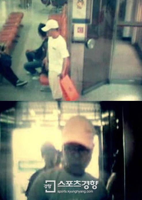 실종된 강씨의 카드로 현금을 인출한 남성이 당시 은행 CCTV에 촬영된 모습.