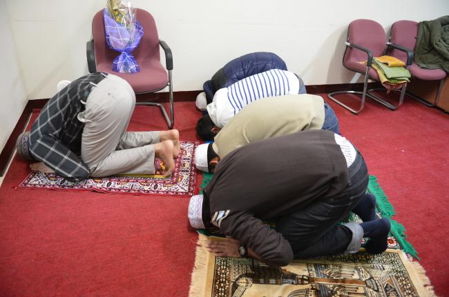 한양대 제2공학관 내에 위치한 무슬림 유학생을 위한 기도실 모습. [사진제공=한양대]