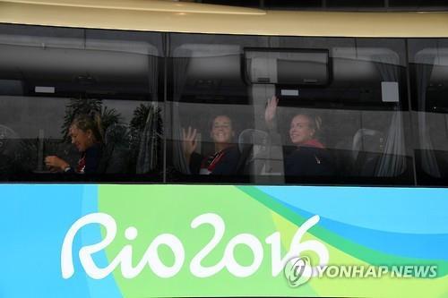 리우 도착한 러시아 선수단 [AFP=연합뉴스 자료사진]