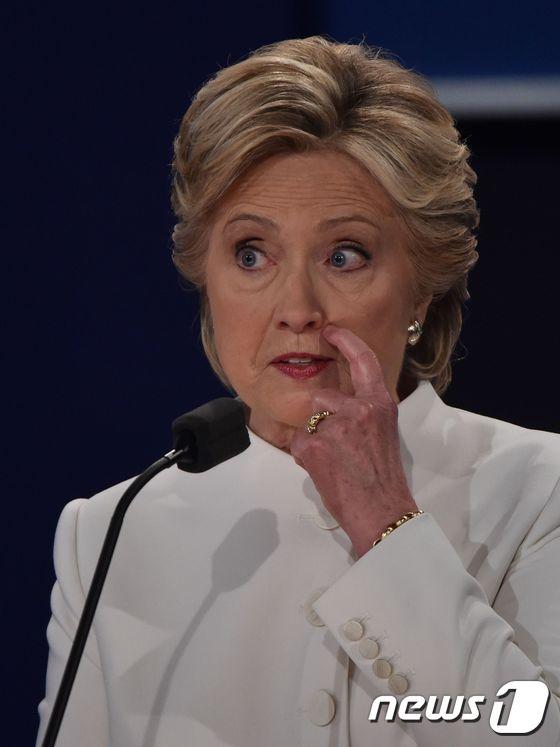 힐러리 클린턴 민주당 댙오령후보© AFP=뉴스1