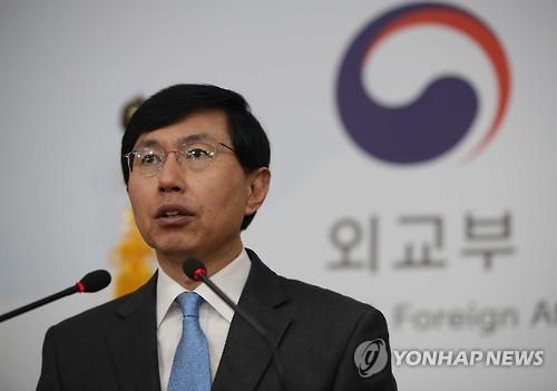 조준혁 외교부 대변인[연합뉴스 자료사진]