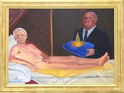 조지 왕의 휴식(Man of Leisure, King George), 케이티 디드릭슨 작(2004)