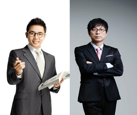 이투스교육 소속 강사 설민석(왼쪽)과 최진기