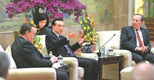 '중국 개발 포럼'에 참석한 리커창 중국 총리 [차이나데일리 화면 캡처]