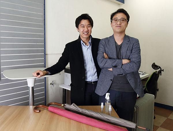 ⓒ윤성희 '단골공장 프로젝트'를 진행하는 소셜 벤처 '팩토리얼'의 이참씨(왼쪽)와 홍한종씨.