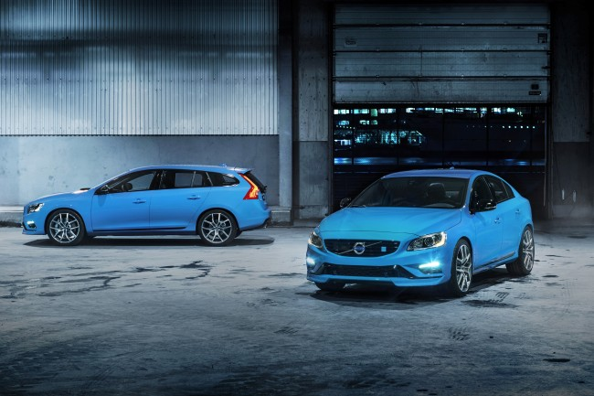 <사진>볼보의 파란색 V60과 S60