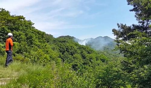 [부산소방안전본부 제공영상 캡처=연합뉴스]