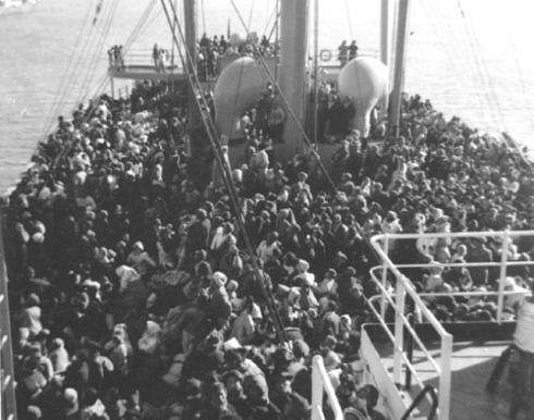 흥남부두에서 피난길에 오른 피난민들 모습(사진=국가보훈처)