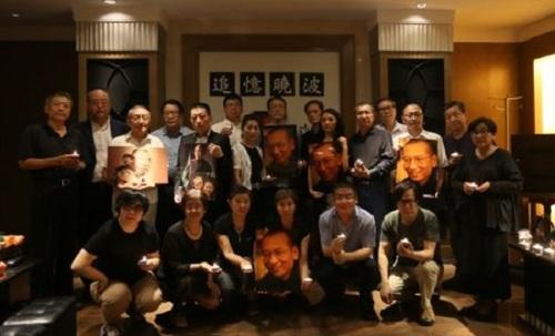 지난달 19일 베이징의 한 호텔에서 중국 노벨평화상 수상자인 류샤오보(劉曉波)를 추모하는 행사가 열렸다.