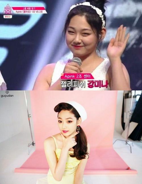 강미나. 사진| Mnet 방송화면캡처, 젤리피쉬 공식 SNS