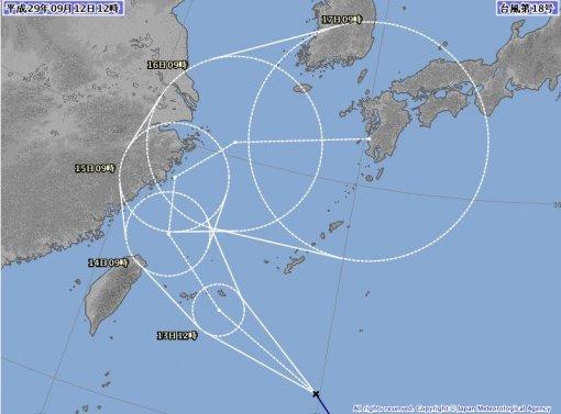 태풍 탈림 경로 또 변했다..제주도 간접영향권·일본 규슈 강타 예상