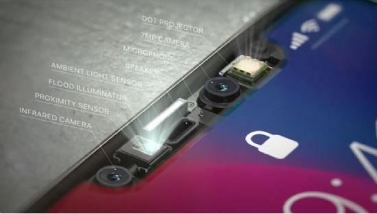 페이스ID를 구현하기 위해 아이폰X 전면부에 탑재된 모듈.