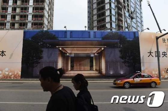 중국 베이징 아파트 건설 현장© AFP=News1