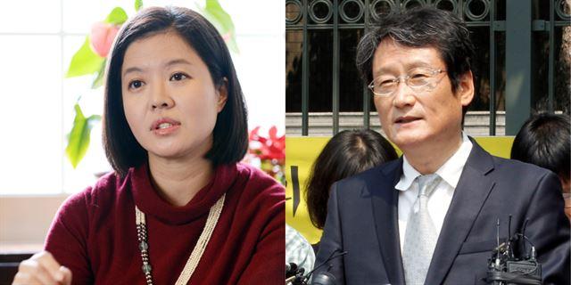 배우 김여진(왼쪽 사진)과 문성근. 14일 국가정보원에 따르면 국정원은 이명박 정부 시절이던 2011년 두 배우를 '좌파 연예인'으로 분류하고 이들의 이미지 실추를 노린 합성사진을 제작 유포했다. 한국일보 자료사진