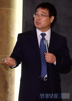 강연하는 김종필 세무사. 최혁 기자