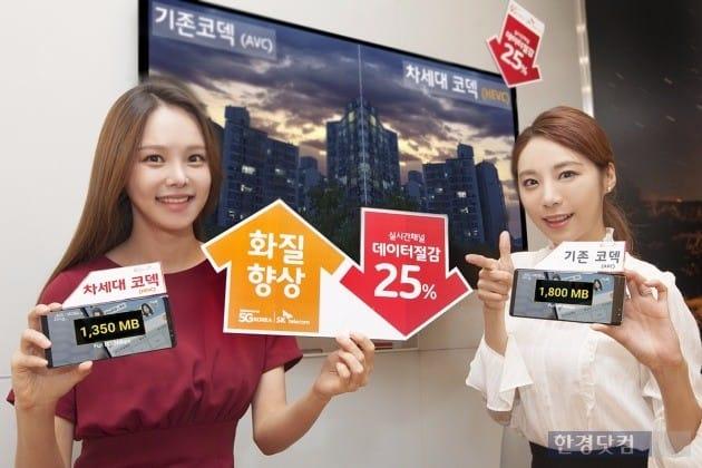 SK텔레콤이 오는 28일부터 고효율 비디오 코덱(HEVC)을 동영상 플랫폼 옥수수의 실시간 채널 12개에 적용한다. / 사진=SK텔레콤 제공