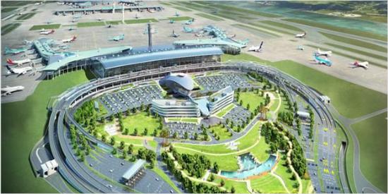 인천공항 제2터미널 조감도 (사진=국토교통부 제공)