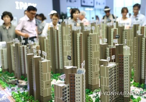 고덕 센트럴 아이파크 분양 모델하우스 모습. [연합뉴스 자료사진]