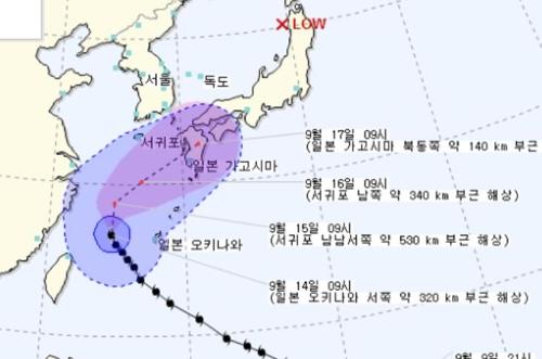 태풍 북상에 제주 오후부터 비바람..남쪽 먼바다 풍랑경보 #연합뉴스