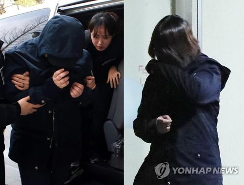 '8살 초등생 살해' 주범 A(17)양(오른쪽)과 공범 B(18)양. [연합뉴스 자료 사진]