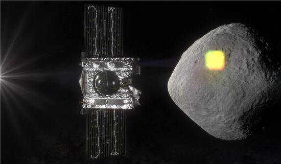 ▲오시리스-렉스는 소행성 '베누'에 대한 지도를 작성한다.[사진제공=NASA]
