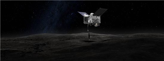 ▲오시리스-렉스는 소행성 '베누'에 도착해 샘플을 채취해 지구로 돌아온다.[사진제공=NASA]