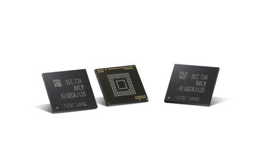삼성전자가 세계최초로 양산하는 '자동차용 eUFS' 메모리 반도체 제품. (사진=삼성전자)