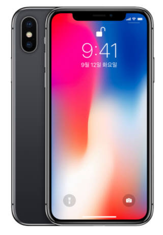 OLED를 사용한 애플의 아이폰X