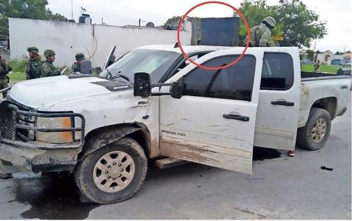 멕시코 군이 압수한 사제 무장 차량 [엘 디아리오 데 후아레스 누리집 갈무리]