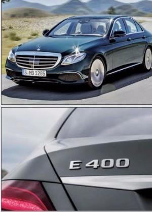 메르세데스벤츠 E 400은 3000㏄지만 그 이상의 성능을 발휘한다는 뜻에서 400을 붙였다.